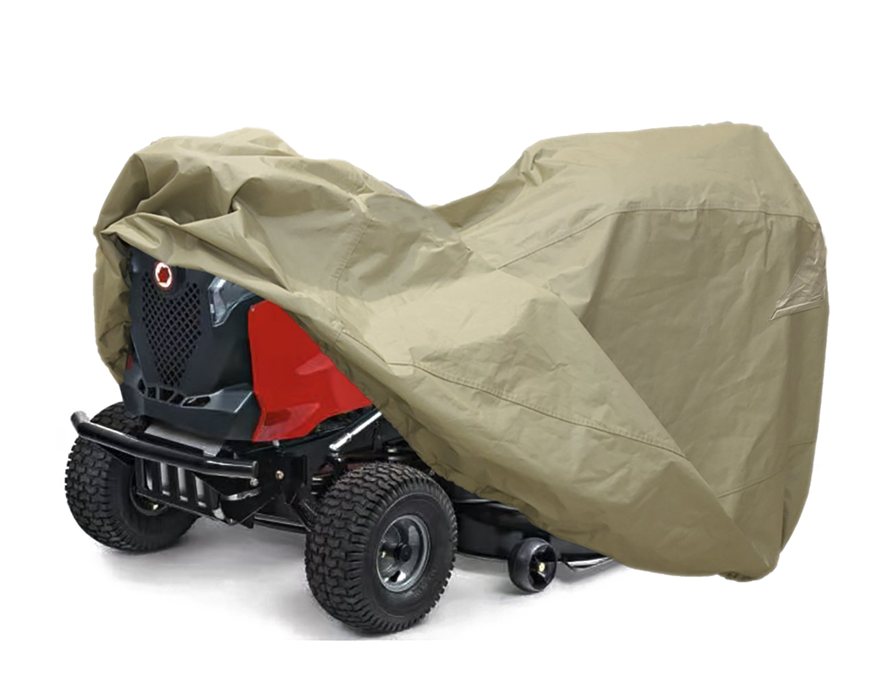 "Lawn Mower Tractor Cover with Elastic Hems to Fit a Deck up to 54"" Beige Color"
