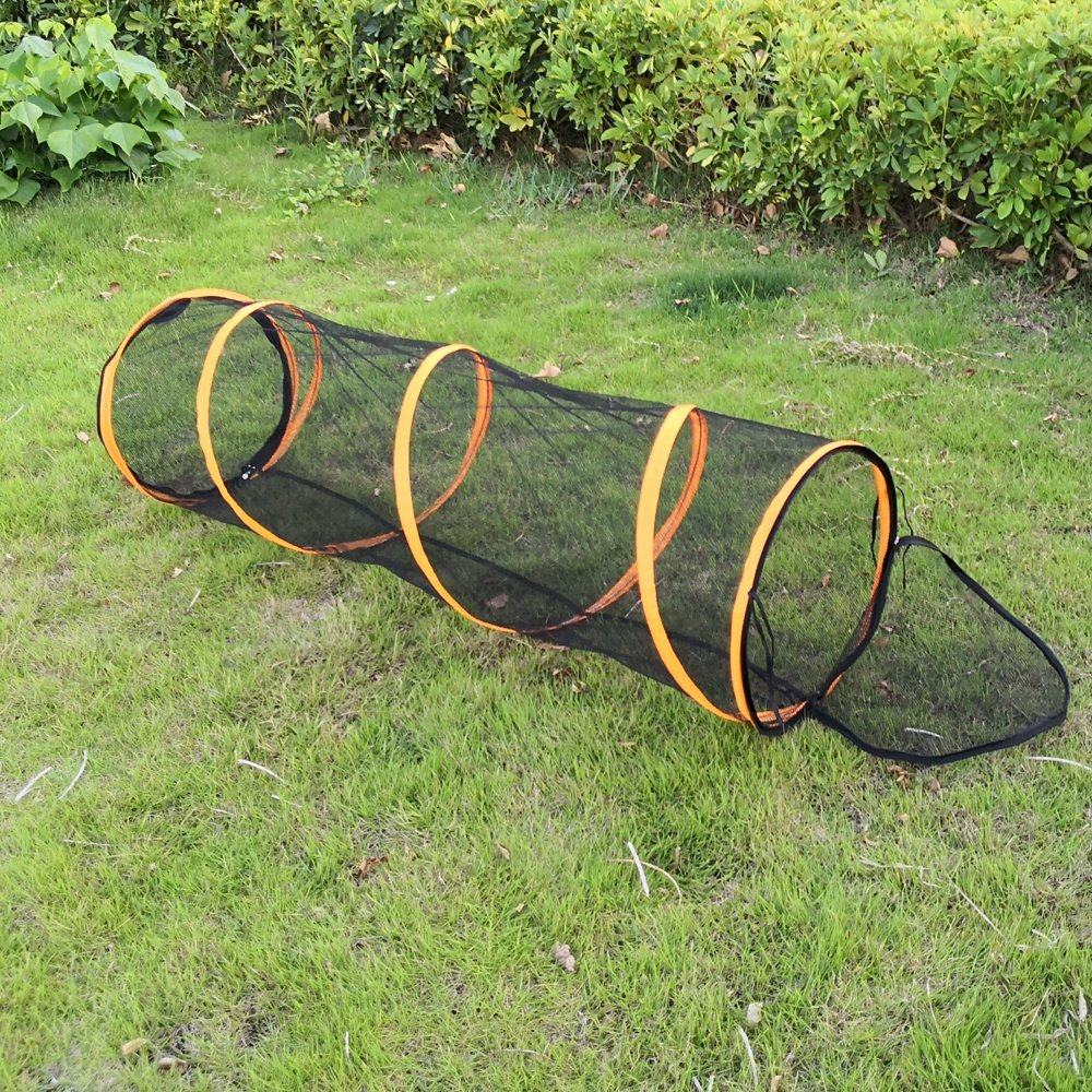 Cat Playing Tunnel Tube for Rabbits  Kittens Dogs  Bunny 45CMX120CM MESH