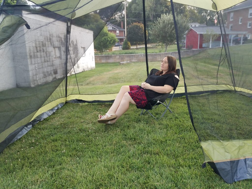EnjoyingThe Outdoors With The RORAIMA Bug Proof Canopy Shelter