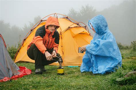 Camping when raining