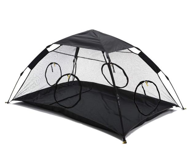RORAIMA Instant Portable Outdoor Cat Tent Solid floor mat with 4 zipper doors RMPT007