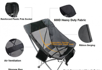 RORAIMA Signature Lightweight Outdoor Camping Chair Ergonomic Design with Comfy and Deep Seat Produ