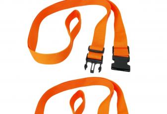 RORAIMA Adjustable Handle Straps 6 ft up to 12 ft 1.5 inch Wide Nylon Fabric 2 Pcs/set color Orange