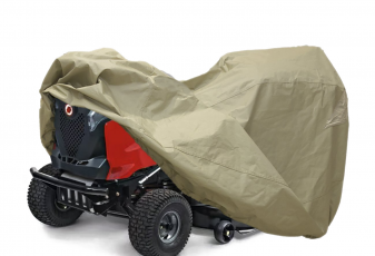 """Lawn Mower Tractor Cover with Elastic Hems to Fit a Deck up to 54"""" Beige Color"""