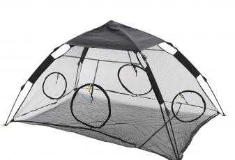 RORAIMA Instant Portable Outdoor Cat Tent Mesh floor mat with 4 zipper door RMPT006